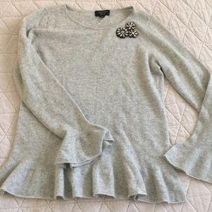 Cashmere Charter Club Luxury Rhinestone Sweater M